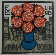 ≡ Bookplate Estate ≡ vintage ex libris labels︱artful book plates - Jugendstil bookplates
