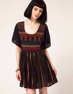 One Teaspoon Casablanca Embroidered Dress