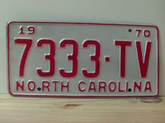 1970+North+Carolina+Rat+Rod+License+Plate+Tag+NC+#7333-TV+YOM