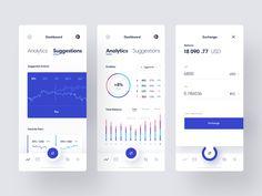 Cryptocurrency Exchange App by Den Klenkov for Fireart Studio on Dribbble Mobile Wallet App, Dashboard Mobile, Mobile App, Web Design, App Ui Design, User Interface Design, Check In App, Branding, Ui Design Inspiration