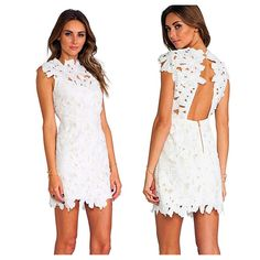 Flower Splicing Backless Sexy Slim Cocktail Party Bodycon Lace Dress Racks on Racks  http://racksonracks.com/collections/racks-on-racks-dresses/products/flower-splicing-backless-sexy-slim-cocktail-party-bodycon-lace-dress