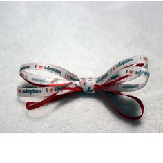 I heart Adoption bow from Vinyl Expressions for $3.50