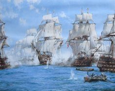 The Battle of Trafalgar. By the 1930s Dawson was considered one of the greatest living marine artists, whose patrons included two American Presidents, Dwight D Eisenhower and Lyndon B Johnson, as well as the British Royal Family.
