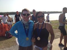 We make it!! Sprint Distance Triathlon Huntington at Key Biscayne Fl