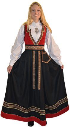 Dame Festdrakt - Norsk Festdrakt Traditional Fashion, Ethnic Fashion, Mode Inspiration, Cheer Skirts, Jumpsuit, Sweatshirts, Lady, Dresses, Norway