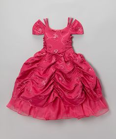 Take a look at this Fuchsia Pick-Up Dress - Toddler & Girls on zulily today!