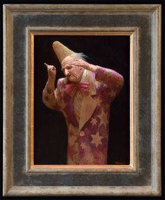 Kenne Gregoire paintings, Dirigent, acrylic on panel, 40x30cm.