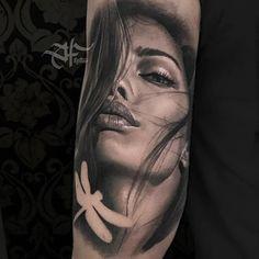 66 Ideas Tattoo Mujer Realismo For 2019 Tattoos 3d, Chicano Tattoos, Best Sleeve Tattoos, Badass Tattoos, Trendy Tattoos, Body Art Tattoos, Hand Tattoos, Girl Face Tattoo, Girl Arm Tattoos