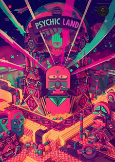 Psychic Land by 2veinte , via Behance