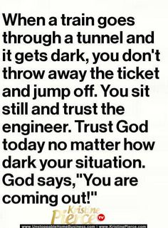 God's divine plan...he will lead you, just trust him