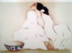 R C Gorman Zia Crystal Ceramic Southwest Art Tile Southwestern Art Gift Idea   eBay