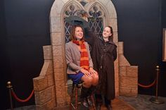 WATCH: Danielle Smith is sorted into a Hogwarts House at The Harry Potter Exhibit during a tour of the Telus World of Science in Edmonton. #ableg #Alberta #wrp