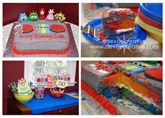 Cute rainbow cake!