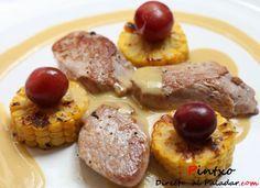 Solomillo ibérico con salsa de miel y mostaza. Receta Tapas, Portuguese Recipes, Portuguese Food, Gordon Ramsay, Love Food, Food To Make, Nom Nom, Sausage, French Toast