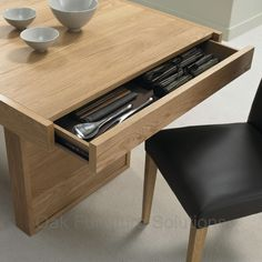 dining table with storage drawers