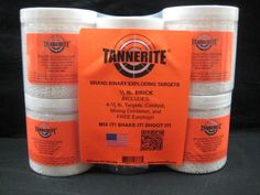 514a7ac7135 Tannerite Half Brick 4 pack of 1 2-lb reactive exploding explosive targets