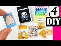 HOW TO MAKE 4 MINIATURE SKETCHBOOKS NOTEBOOKS DIY CRAFT ft Draw with Jaz...