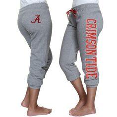 Alabama Crimson Tide Ladies Razzle Dazzle Sequin Capri Pants - Ash