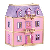 Melissa & Doug® Multi-Level Wooden Dollhouse ShopNBC.com  #shopnbcFavorites