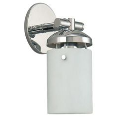 Sea Gull Lighting Bliss 1-Light Chrome Wall Sconce-41044-05 - The Home Depot