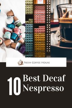 Recently I've tried dozens of different types of decaf Nespresso capsules to find experiment with their flavor and quality. If you're looking for the best decaf for Nespresso, I have a few amazing suggestions. There are a few reasons why you want to find a good decaf. Perhaps you're cutting back on caffeine, or you're looking for an evening, after dinner, dessert espresso. #decaf Coffee Cream, Coffee Type, Black Coffee, Types Of Coffee Beans, Different Types Of Coffee, Coffee Canister, Coffee Spoon, Acquired Taste, Coffee Accessories