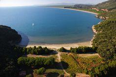 Immagine dall'alto di Cala di Forno - Parco regionale della Maremma (Tuscany)