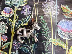 Floral mural design for Church Street Tavern