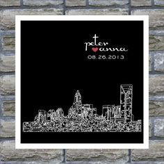 Hey, I found this really awesome Etsy listing at https://www.etsy.com/listing/113340783/charlotte-skyline-wedding-gift-art-print