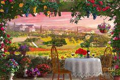 Tuscany Hills by Dominic Davison ~ digital art