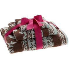 Perfect Better Homes And Gardens Floral Jacquard 3 Piece Towel Set From Walmart.com Home Design Ideas