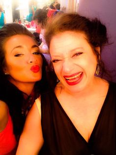Heather and Michele ... backstage ... Dirty Rotten Scoundrels, 2015