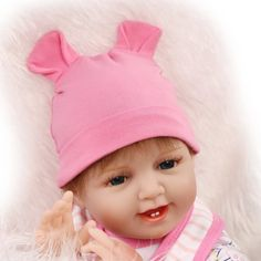 98.59$  Buy now - http://alidq2.worldwells.pw/go.php?t=32727836248 - Fashion Real Reborn Babies Silicone Reborn Dolls Toys for Girls Birthday Gift,50 CM Smile Baby Newborn Dolls Educational Toys 98.59$