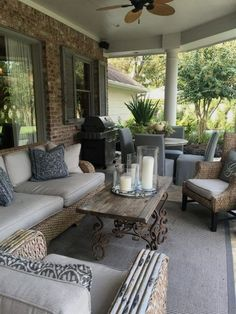 Maybe you would like to upgrade the complete back yard, or perhaps only the patio area. Your patio garden requires a floor finish. With many patio furniture alternatives to pick from you can readily make an outdoor space that is going to be well utilized. Back Patio, Backyard Patio, Diy Patio, Back Porches, Backyard Ideas, Backyard Landscaping, Patio Stairs, Farmhouse Front Porches, Small Porches