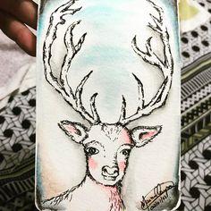 Little deer da @carolina.19.duarte ? Será ? #draw #drawings #sketch #desenho #esboço #artist #artista #creativity #criatividade #instaart #instart #artgram #artoftheday #art #creative #arte #watercolor #watercolorpencils #watercolorpainting #nanquim #nanking #deer #deerart