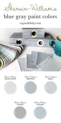 Bluish Gray Paint, Blue Gray Paint Colors, Gray Color, Silver Grey Paint, Best Gray Paint, Paint Colours, Interior Paint Colors, Paint Colors For Home, House Colors
