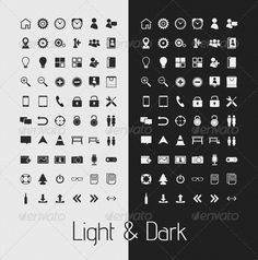 Simple Light & Dark UI Icons — Photoshop PSD #mobile #alarm • Available here → https://graphicriver.net/item/simple-light-dark-ui-icons/908773?ref=pxcr