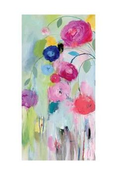 Frame Your Space Poster Print Company producing top of the line quality wall art. Abstract Flowers, Abstract Art, Painting Inspiration, Flower Art, Painting & Drawing, Watercolor Paintings, Decoupage, Art Projects, Canvas Art
