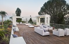 Sleek and sexy modernist residence above the Sunset Strip, LA Garden Design, House Design, Sunset Strip, Outdoor Spaces, Outdoor Decor, Small Gardens, West Hollywood, City Photo, Outdoor Furniture Sets