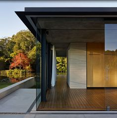 Love the steel fascia detail - can we get steel through Marc? Wirra Walla Pavilion: is this Australia's version of Glass House? | Architecture And Design