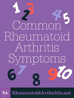 RA common symptoms Lol I have all 10 on a daily basis! What do I win? Haha