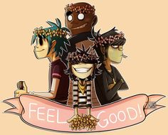 Feel Good Redraw! - Gorillaz by Ashesfordayz.deviantart.com on @DeviantArt