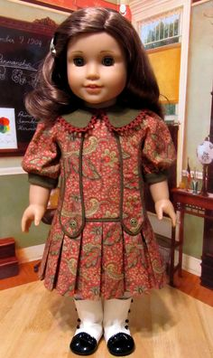 1910's Silk Noil and Cotton Paisley School Frock | Miss Rebe… | Flickr