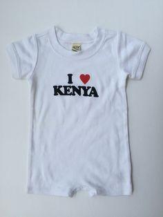 0a2021b57887 I Love Kenya Unisex Infants Scoop Neck Short Sleeve Romper. Baby Girl RomperToddler  Girl OutfitsInfantsKenyaScoop ...