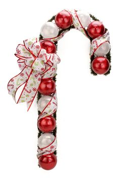 Nicole™ Crafts Christmas Ball Candy Cane #christmas #craft