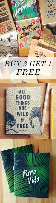 Buy 3 Notebooks and Get 1 FREE + 30% off with the code HOOPLA15. Sale ends soon!