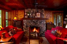 cozy rooms with fireplaces - Google Search