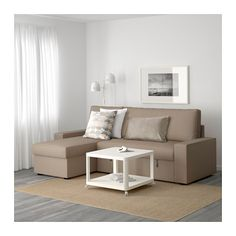 VILASUND Convertible avec méridienne - -, Dansbo beige - IKEA