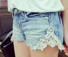 This is a perfect idea on how to make short shorts a bit longer.