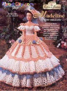 Barbies com vestidos de croche
