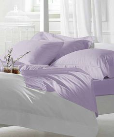 Pastel Lilac 1000-Thread Count Sheet Set #zulily #zulilyfinds